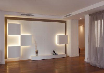 Cubos-estantería y cajón de almacenaje retro-iluminados